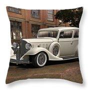 1933 Buick Victoria 'bootleg Beauty' Throw Pillow