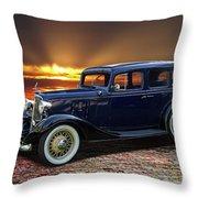 1933 Chevrolet 4 Door Eagle Sedan Throw Pillow