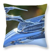1933 Chrysler Imperial Hood Ornament 2 Throw Pillow