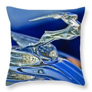 1933 Chrysler Imperial Hood Ornament Throw Pillow