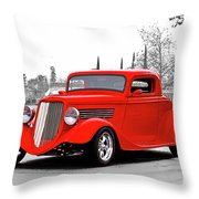 1933 Ford 'three Window' Coupe I Throw Pillow