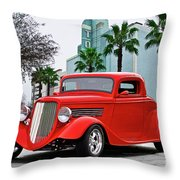 1933 Ford 'three Window' Coupe II Throw Pillow