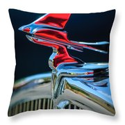 1933 Franklin Olympic Hood Ornament Throw Pillow