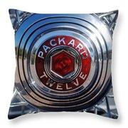 1933 Packard 12 Wheel Throw Pillow