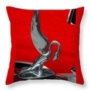 1933 Packard Goose  Hood Ornament Throw Pillow