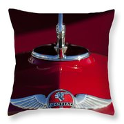 1933 Pontiac Hood Ornament 2 Throw Pillow
