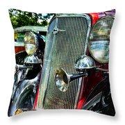 1934 Chevrolet Head Lights Throw Pillow