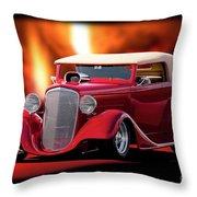1934 Chevrolet Phaeton Convertible Throw Pillow