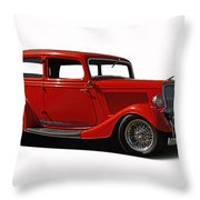 1934 Ford 2 Door Sedan Throw Pillow