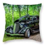 1934 Ford 3 Window Coupe Throw Pillow