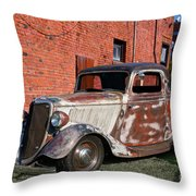 1934 Ford 'patina Plus' Coupe Throw Pillow