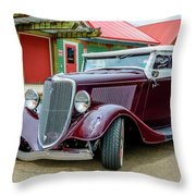 1934 Ford Roadster Hot Rod Throw Pillow