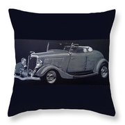 1934 Ford Roadster Throw Pillow