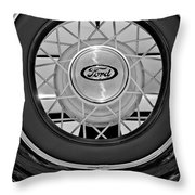 1934 Ford Roadster Spare Tire 2 Throw Pillow