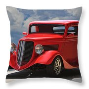 1934 Ford 'sherrys Cherry' Coupe Throw Pillow