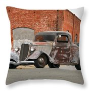 1934 Ford 'survivor' Coupe Throw Pillow