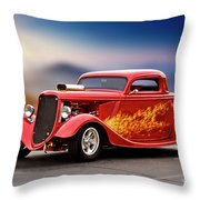 1934 Ford 'three Window' Coupe I Throw Pillow
