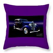 1934 Ford Tudor Sedan Throw Pillow