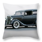 1934 Ford 'victoria' Coupe Throw Pillow
