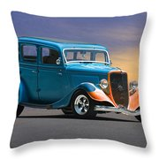 1934 Ford Victoria II Throw Pillow