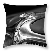 1934 Nash Ambassador 8 Hood Ornament 2 Throw Pillow