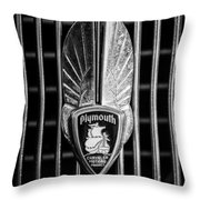 1934 Plymouth Emblem 2 Throw Pillow