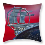 1934 Plymouth Hood Ornament 2 Throw Pillow