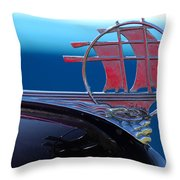 1934 Plymouth Hood Ornament Throw Pillow