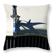 1934 Terraplane Coupe Hood Ornament Throw Pillow