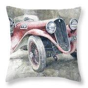 1934 Walter Standart S Jindrih Knapp 1000 Mil Ceskoslovenskych Winner  Throw Pillow