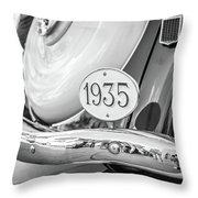 1935 Black And White Throw Pillow by Gary Gillette