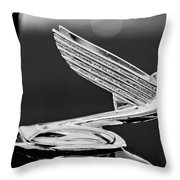 1935 Chevrolet Hood Ornament 4 Throw Pillow