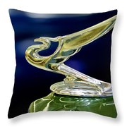 1935 Chevrolet Hood Ornament Throw Pillow