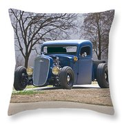 1935 Chevrolet 'hot Rod' Pickup Throw Pillow