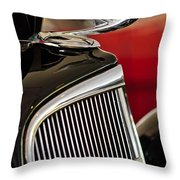 1935 Chevrolet Optional Eagle Hood Ornament Throw Pillow