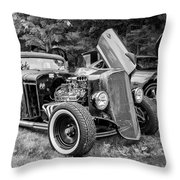 1935 Chevy Sedan Rat Rod Throw Pillow