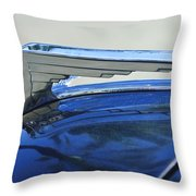 1935 Chrysler Hood Ornament Throw Pillow