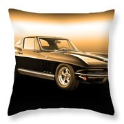 1965 Corvette Stingray Throw Pillow