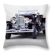 1935 Duesenberg Sj Roadster Throw Pillow