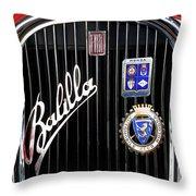 1935 Fiat Balilla Sport Spider Grille Throw Pillow