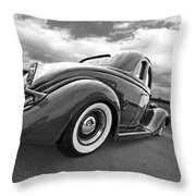 1935 Ford Coupe In Black And White Throw Pillow