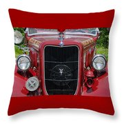 1935 Ford Seagrave Throw Pillow