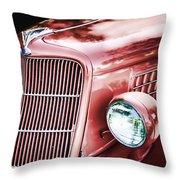 1935 Ford Sedan Hood Throw Pillow