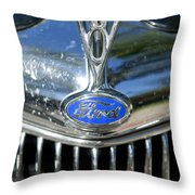 1935 Ford V8 Hood Ornament 2 Throw Pillow