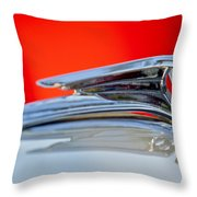 1935 Ford V8 Hood Ornament 3 Throw Pillow