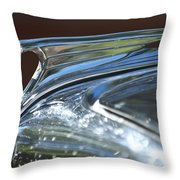 1935 Ford V8 Hood Ornament Throw Pillow