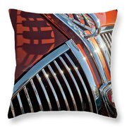 1935 Plymouth Hood Ornament Throw Pillow
