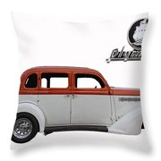 1935 Plymouth With Insignia Throw Pillow