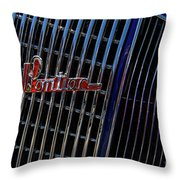 1935 Pontiac 2 Door Sedan Grill Logo Throw Pillow