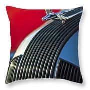 1935 Pontiac Sedan Hood Ornament Throw Pillow